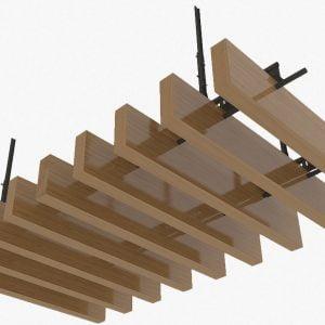 Tubular Ceiling Panel