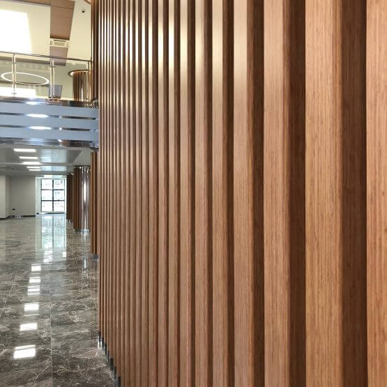 Linear Wooden Wall Panel